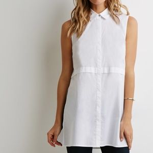 *NWOT* Forever 21 Longline Button Down Shirt